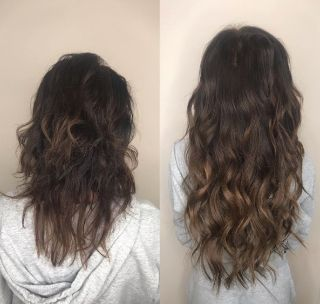 Hair extensions before and After - House of Tresses